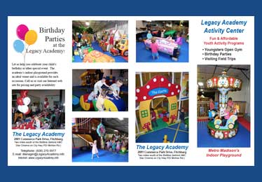 Legacy Academy in Madison, WI is a 6,000 square foot indoor playground. Great for Before School and After School.